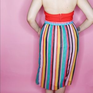 Who What Wear Skirts - Rainbow Stripe Pleated Skirt